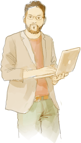 Illustration crayonnée représentant un homme